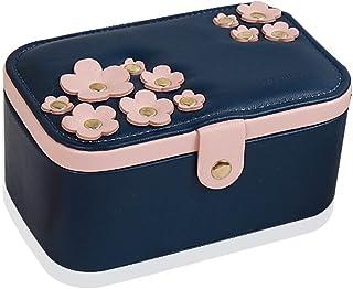 Jewelry Box Jewelry Storage Box Double Jewel Box Ring Box Necklace Box Jewelry Box European Leather Storage Box (hidden Bl...