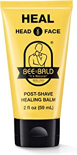 Bee Bald HEAL Post-Shave Healing Balm Immediately Calms & Soothes Damaged Skin, Treats Bumps, Redness, Razor Burn & Other ...