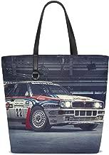 Lancia Integrale Sports Car Martini Racing Top Gear Delta Hf Tote Bag Purse Handbag For Women Girls