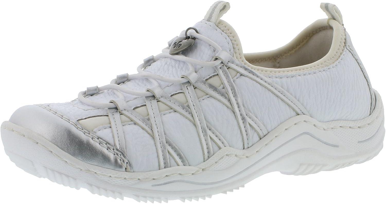 Rieker Damen Turnschuhe Weiß  | Qualitätskönigin
