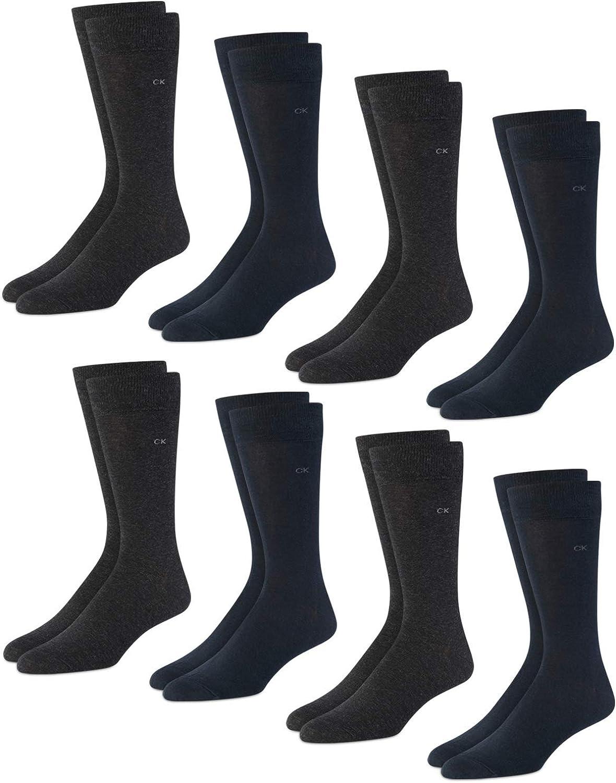 Direct sale of manufacturer Calvin Klein Men's Socks Ranking TOP1 - Blend Mid-Calf Lightweight Cre Cotton