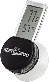 REPTI ZOO Reptile Terrarium Thermometer Hygrometer Digital Display Pet Rearing Box Reptiles Tank Thermometer Hygrometer with Suction Cup