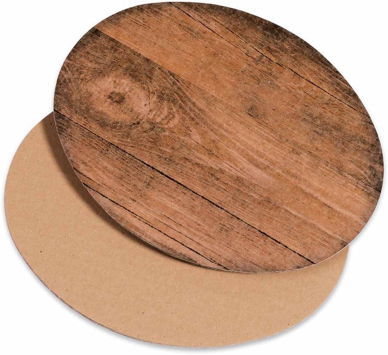 50x Dekoplatte Vintage Holzoptik M - oval, 300 x 200 mm B07DSJRFN3  | Verkauf Online-Shop