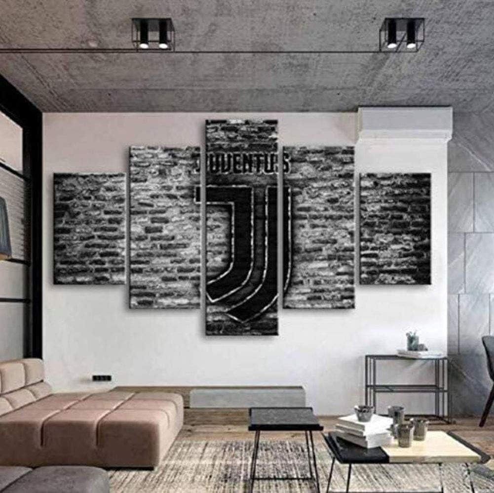 Kjglxd 5 Pannelli Manifesto Stampe E Quadri Stampa Hd Stampa Su Tela Juventus Pittura Murale Soggiorno Amazon It Sport E Tempo Libero