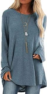 Macondoo Women Tops Long-Sleeve Blouse Casual Loose Oversized T Shirts
