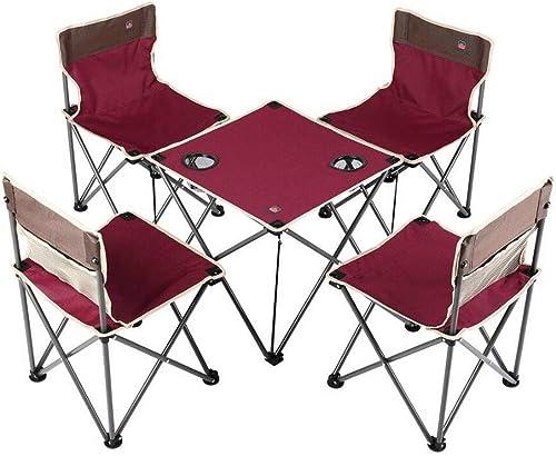 descuento de ventas YUWEN Juego de Mesa de sillas Plegables portátiles compactas (4 (4 (4 sillas + 1 Mesa)  envío gratuito a nivel mundial