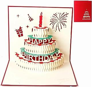 Cartes de vœux Anniversaire, Deesospro® cadeau de carte d'anniversaire pour vos parents, amis et amants, carte de voeux 3D...