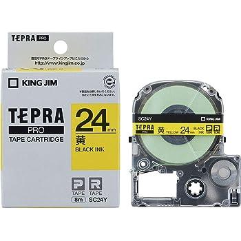 キングジム テープカートリッジ テプラPRO 24mm SC24Y 黄/黒文字