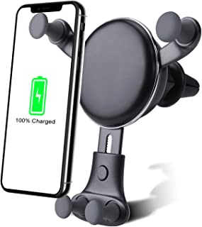 Wireless car Charger Mount-Adjustable Bracket-Gravity System-Fast Charging-Compatible with iPhone Xs Max/XS/X/XR / 8 Plus / 8 Samsung Galaxy Fold / S9 / S9+ / S8 / S8+ / S7 Edge / S7 / S6 Edge+