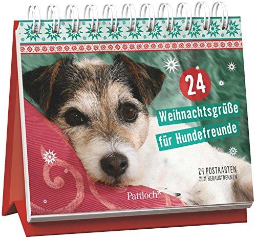 24 Weihnachtsgrüße für Hundefreunde: 24 Postkarten zum Heraustrennen