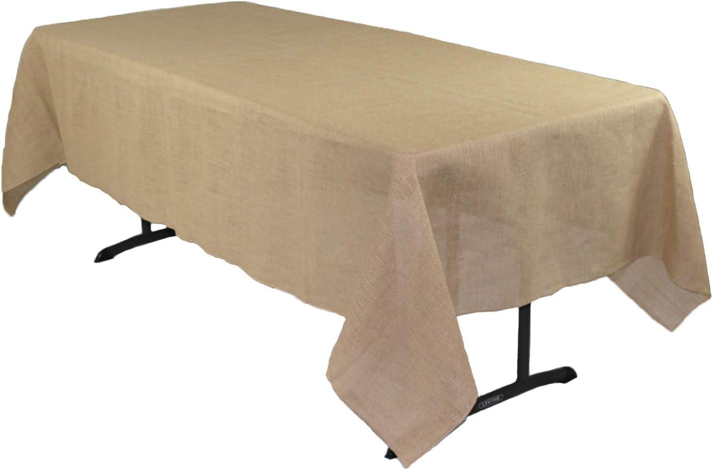 Your Chair 公式ショップ Covers - 60 x Rustic Rectangular 102 Jute 開店記念セール Natura Inch