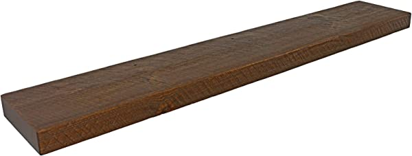 乔尔的古董再生装饰 72 W X 8 D X 2 H 质朴的漂浮的木头架子松木盘子书厚实的农舍开放的架子