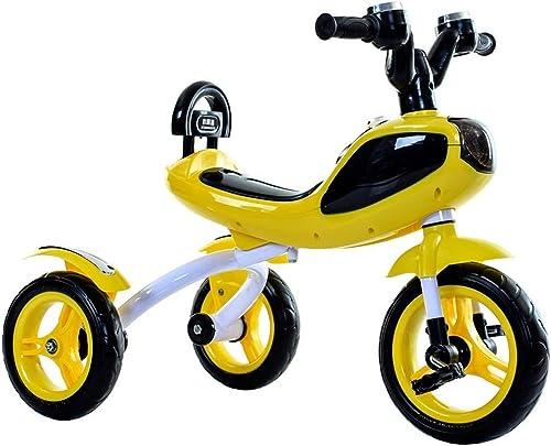 YAOZEDI-BalanceBikes Kinder Dreirad Pedal Dreirad Balance Auto Fahrrad mit Cooler Musik Lichter geeignet für 2-5 Jahre alte Kinder