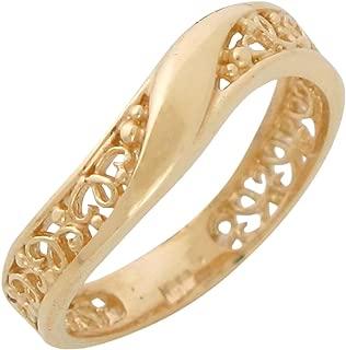 Jewelry Liquidation 10k Yellow Gold Gorgeous Detailed Filigree Design Ladies Classy Elegant Ring