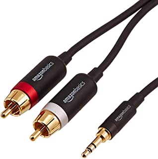 AmazonBasics 3.5mm to 2-Male RCA Adapter Audio Stereo Cable - 4 Feet