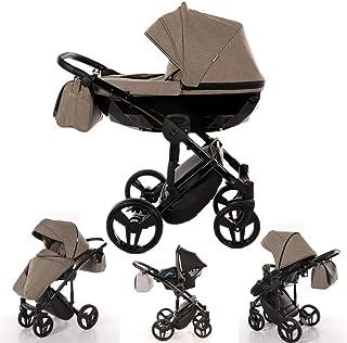 Silla de paseo combinada Junama silla de bebé con silla de paseo premium + accesorios Isofix seleccionable Diamond de Ferriley & Fitz Mud 04 2en1 sin asiento