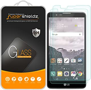 (2 Pack) Supershieldz for LG (Stylo 2) Tempered Glass Screen Protector, 0.33mm, Anti Scratch, Bubble Free