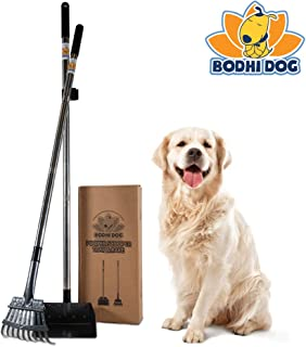 Bodhi Dog Metal Long Handle Tray and Rake Pooper Scooper   Perfect for Small, Medium, Large, XL Pets - Great for Grass, Street and Gravel
