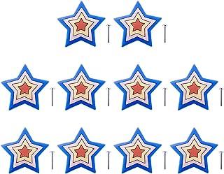YAVSO Pomos y Tiradores 10pcs Estrella Pomos Armario Estrell Tiradores de Muebles para Cajones Armario Puertas Alacena...