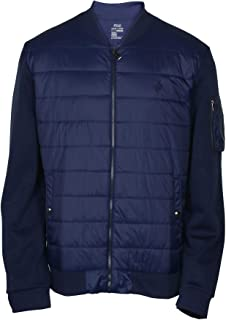 Men's Double Knit Quilted Bomber Jacket