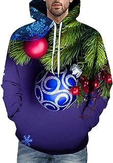 IZHH Mens 2019 New Hoodie Pullover Sweatshirt Christmas Hooded Outwear Coat Tops
