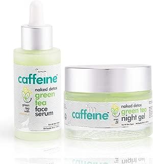 mCaffeine Green Tea Face Hydration Kit for Dull Skin | Face Serum, Night Gel | All Skin | Paraben & Mineral Oil Free