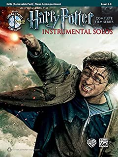 Harry Potter Instrumental Solos for Strings: Cello, Book & CD (Pop Instrumental Solos Series)