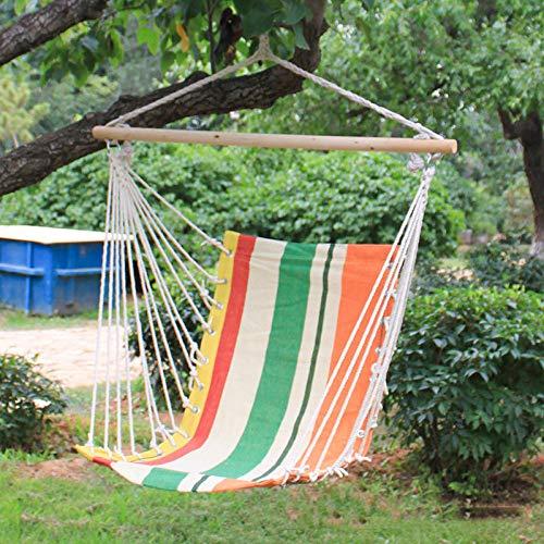 dehong XXL Chaise Detente Jardin with Baton De Bois,100x130cm (Charge Max 200kg) Orange Chaises Jardin pour Garden Camping Patio Extérieur Intérieur