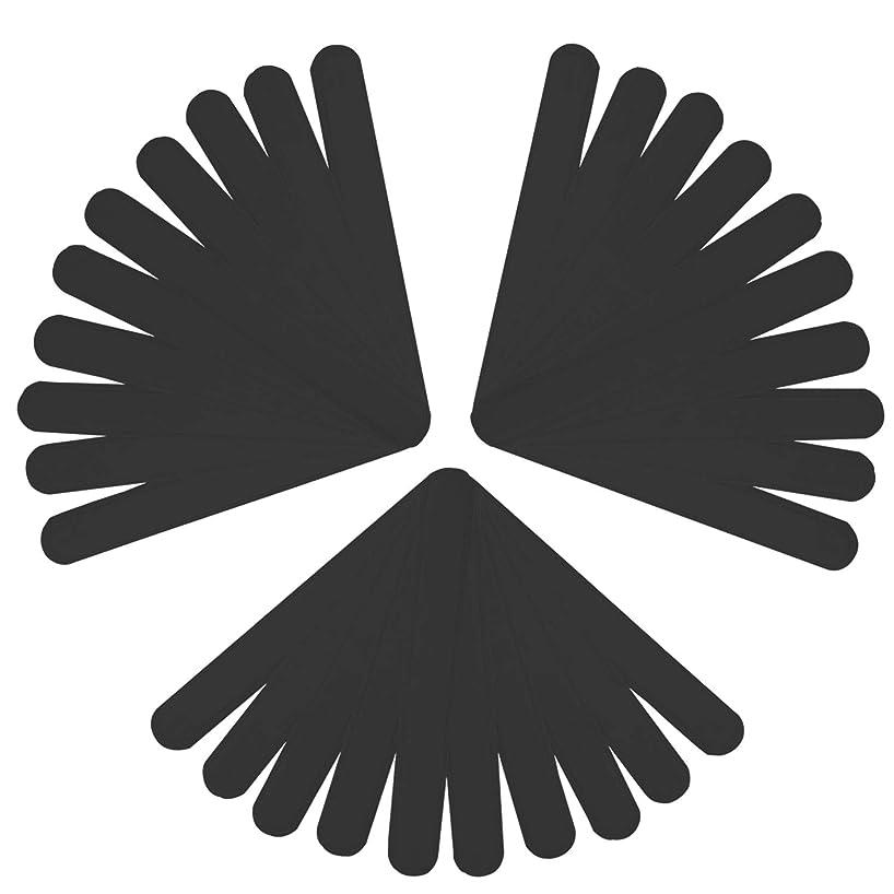 ペレットあごひげ一握りLUCKYBEE汗取りシート 30本入り 帽子 汗取りパッド 襟 よごれガードテープ 汗吸収 防臭シート 無香料 あせジミ防止 暑さ対策 ブラック (ブラック)