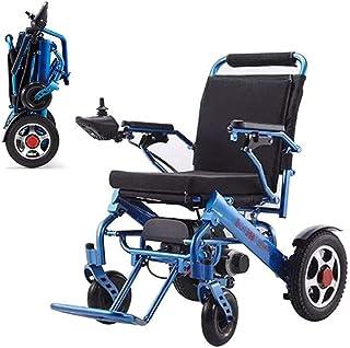 CHHD Sillas de Ruedas eléctricas, sillas de Ruedas, sillas de Ruedas eléctricas Abiertas rápidas Plegables, sillas de Ruedas eléctricas eléctricas Sillas de Ruedas Azules duraderas, seguras y fáciles