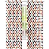 Cortinas para sala de estar con forma abstracta vertical de...
