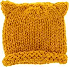 FITYLE Warm Knitted Winter Baby Kids Hats,Soft Chunky Toddler Beanie Caps Girls Boys - Yellow, as described