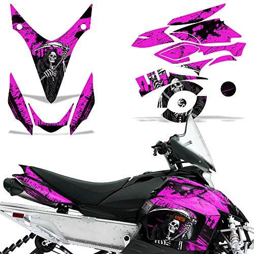 Yamaha Phazer RTX GT 07–16 Aufkleber Graphic Kit Schlitten Schneemobil Teile Wrap Reaper Pink