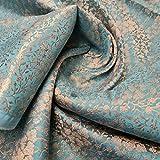 Textile Station Indischer Brokatstoff, florales Muster,