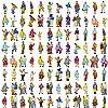 情景コレクション 人間 人形 人物 人間フィギュア塗装人 1:150 100本入り 箱庭 鉄道模型 建物模型 ジオラマ 教育 DIY
