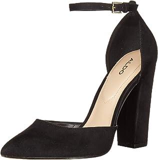 ALDO Women's Block Heel, Ankle Strap, Pump