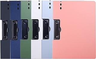 Samedy クリップボード A4 クリップファイル 資料ホルダー バインダー 下敷きボート ファイルケース 書類収納 ペン挿し可能 オフィス用品 業務用 仕事用 事務用 6色セット