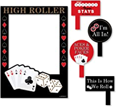 Big Dot of Happiness Las Vegas - Casino Themed Party Selfie Photo Booth Picture Frame & Props - Printed on Sturdy Material