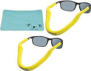 Chums Floating Neoprene Eyewear Retainer Sunglass Strap   Eyeglass & Glasses Float   Water Sports Holder Keeper Lanyard   2pk Bundle + Cloth