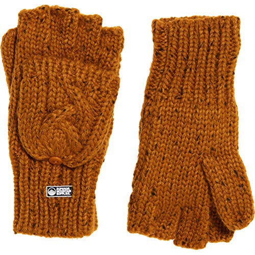 Superdry Damen Fingerhandschuh Gracie Cable Glove, Größe:OneSize, Farben:Ochre