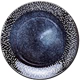 XUEXIU Porcelana Premium Placa Azul del Hogar Placa De Cerámica Placa Redonda Hotel Flat Plate 20.3cm Occidental Placa Restaurante Delicioso Filete Placa De Vajilla De Cocina for Catering and Home