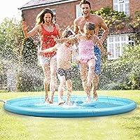 [Summertime divertimento in acqua] Questo splash pad aiuta creare innumerevoli ore di divertimento per i bambini che hanno una standing esplosione, seduto, trampolieri, schizzi e raffreddamento in su di calura estiva, che è la migliore alternativa pe...
