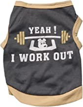 Pet Shirt,Wakeu Small Dog Boy Clothes Yeah i Work Out Weightlifting Patten Vest Puppy Summer Apparel