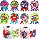 400 Pezzi Adesivi di Compleanno Rotolo, Adesivi Badge di È Il Mio Compleanno Adesivo Forma di Medaglia Adesivi di Compleanno Etichetta per Bambini Festa di Compleanno Decorazione di Casa Classe