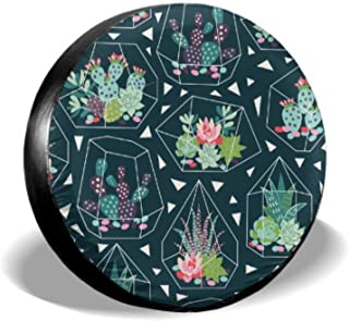 Chawzie Succulent and Cactuses in Scandinavian Stylish Custom Tire Cover Tire Covers Tire Cover Waterproof Uv Sun 14 - 17 Fit for Jeep Trailer Rv SUV and Many Vehicle