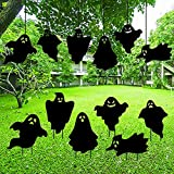 Halloween Decorations Outdoor,Scary Creepy Ghost Silhouette Yard Stakes - Set of 6,Zombie Vamoire Graves Holiday Waterproof Party Supplies.