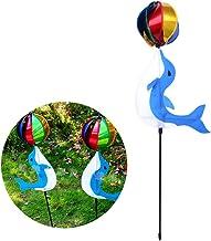 KOFUN Spinner de viento, arco iris molino de viento colorido, lindo de dibujos animados animales Winnower juguetes para niños