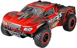 Zzlush リモート制御車マジックトラック激怒午前1時16分2WD高速RCレーシングカーリモートコントロールトラックオフロードバギー玩具ファスト (Color : 赤)