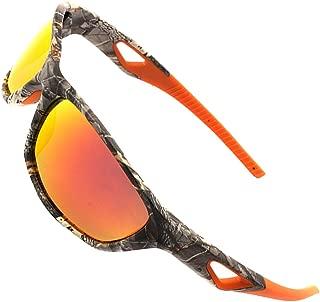 MOTELAN Polarized Outdoor Sports Sunglasses Tr90 Camo Frame for Men Women Driving Fishing Hunting Reduce Glare