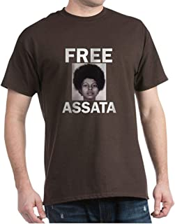 CafePress Free Assata Shakur White On Black Cotton T-Shirt